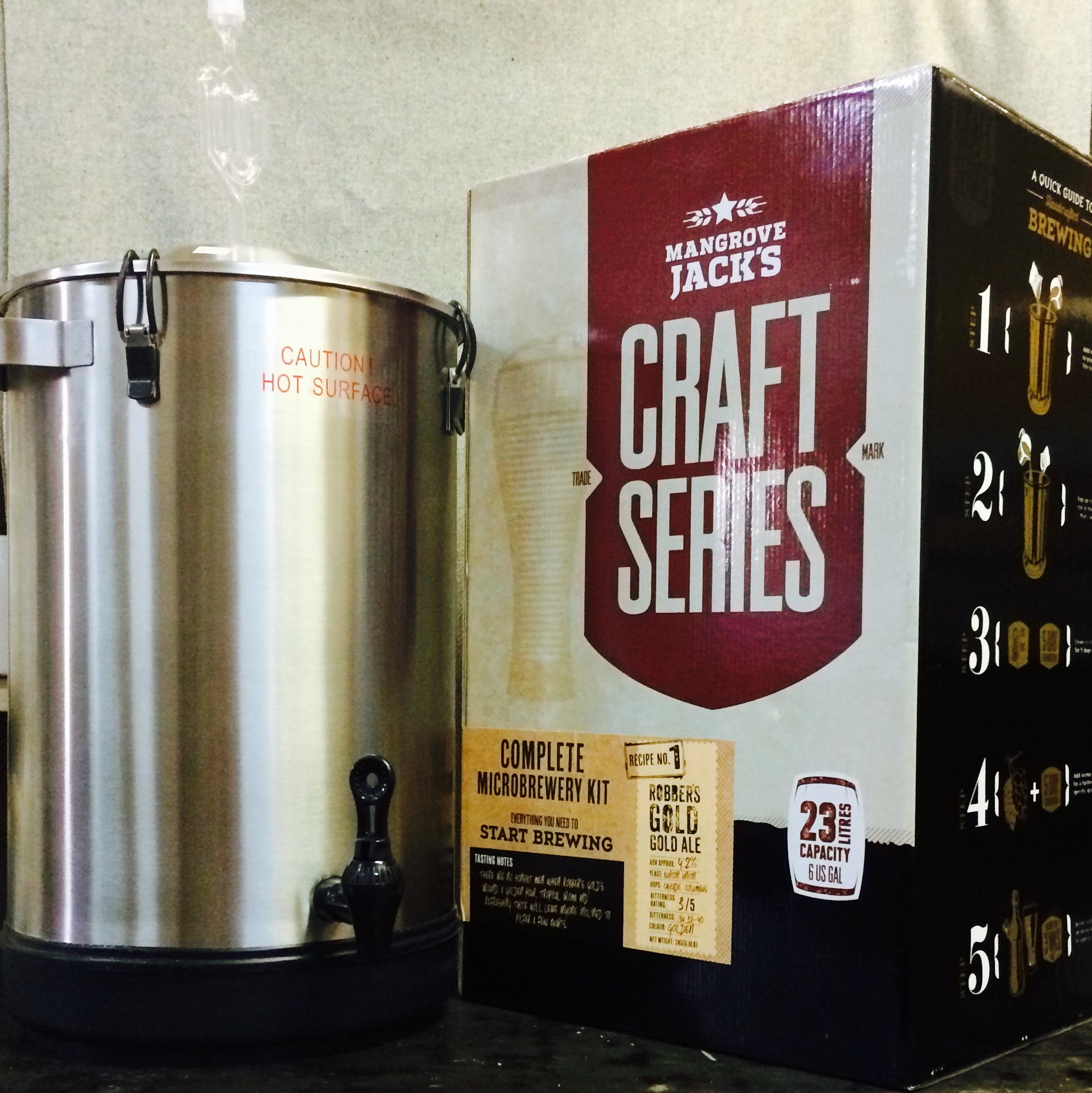 Complete micro brewery kit mangrove jacks home brewing for Craft beer brewing kit